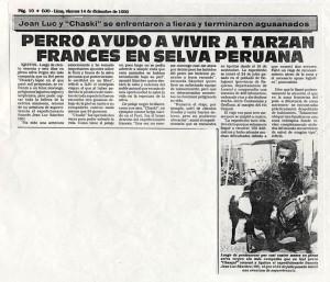 Selva duo  OJO 14 12 1990 Perro ayudo a vivir a Tarzan 2